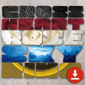 Cross Heart Rose Sky Ring - Digital Download